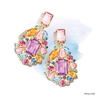J crew earrings illustration