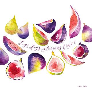 Illustration of fig slices
