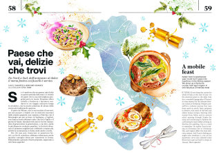 A Christmas feast special for Air Italy Atmosphere magazine Dec issue