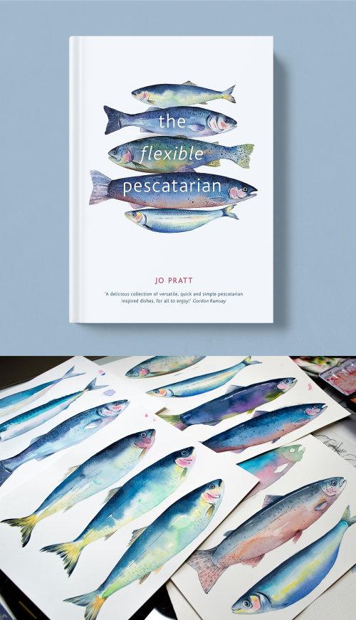 Couverture de livre de cuisine éditoriale