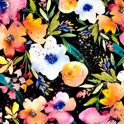 Watercolour Flower pattern