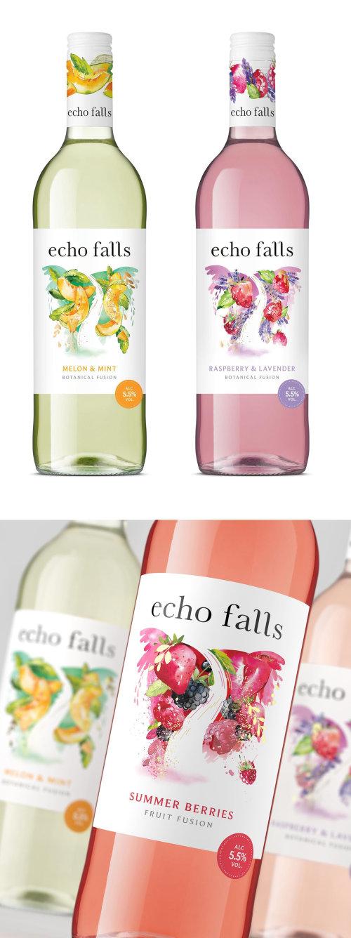 Comida y bebida vino Echo Falls