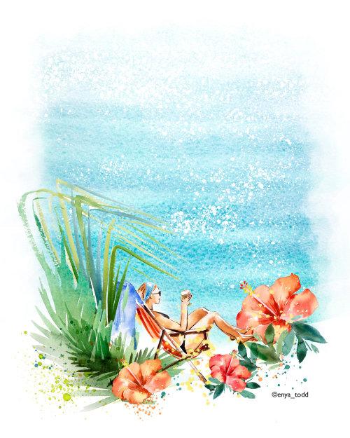 Días de verano de acuarela