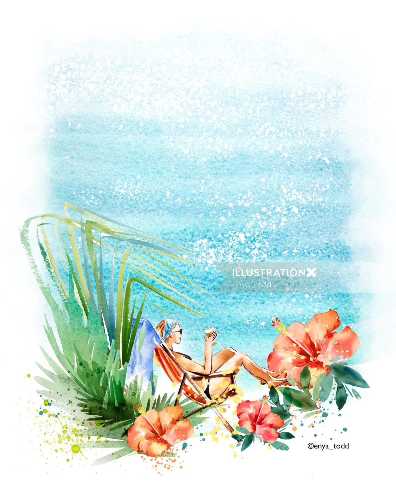 Watercolor Summer days