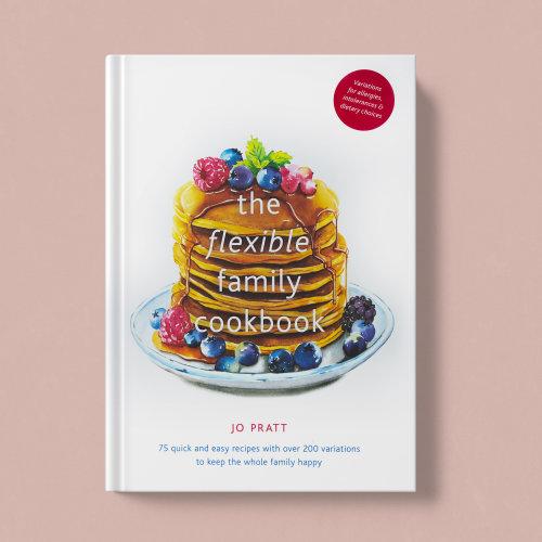 The flexible family cookbook cover art