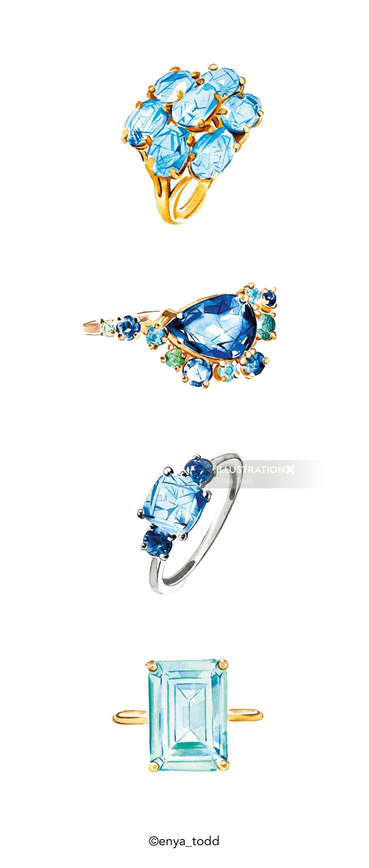 Topaz gemstone – Rings