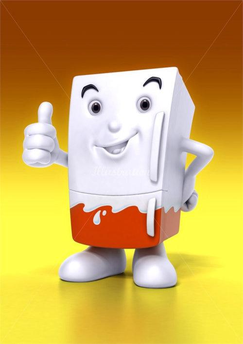 Character design happy box