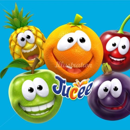 Character design Jucee fruits