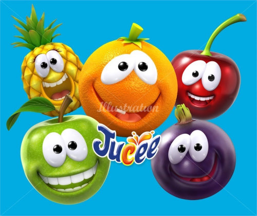 Conception de personnages Jucee fruits