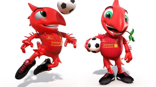 Character design red birds playing football