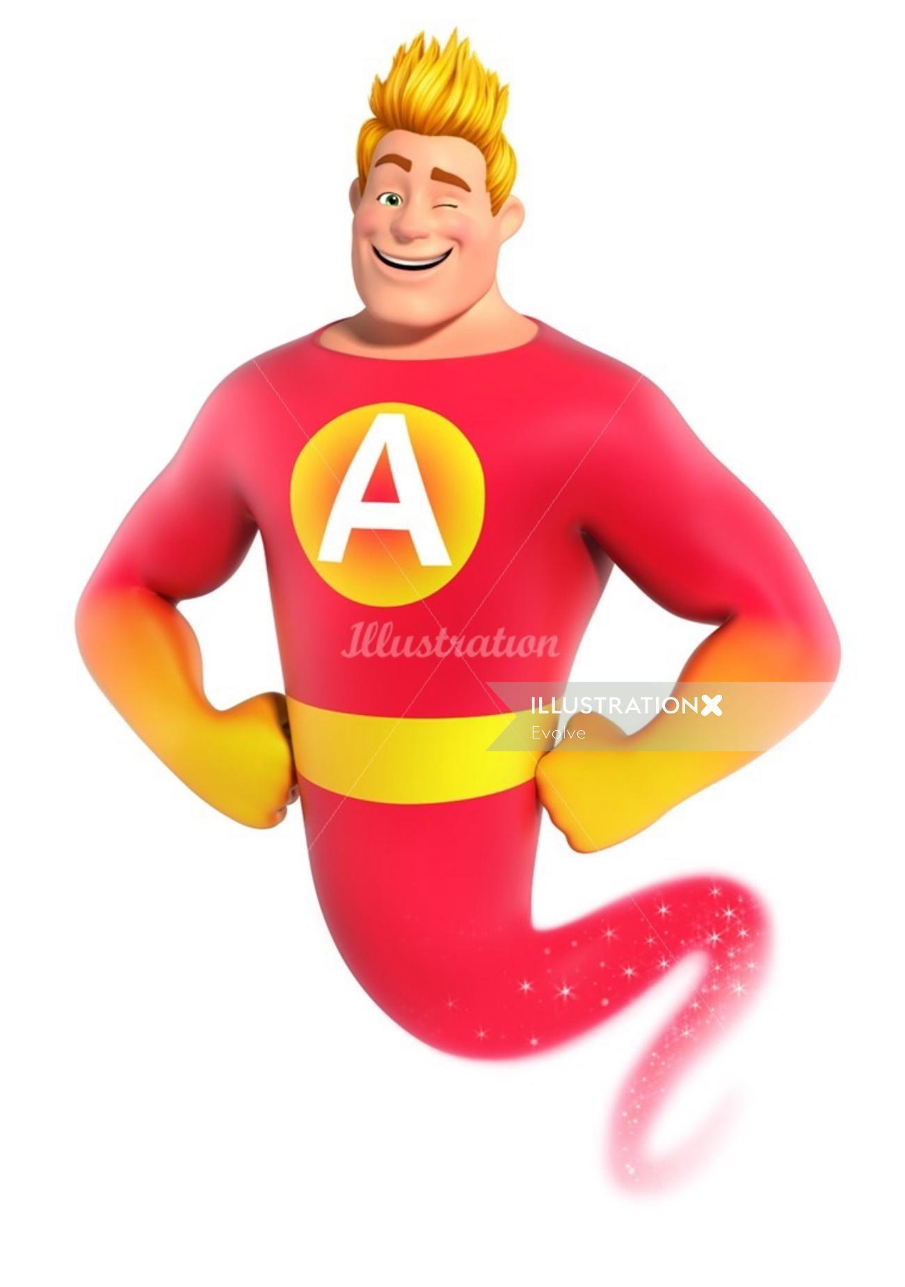 character design Happy genie