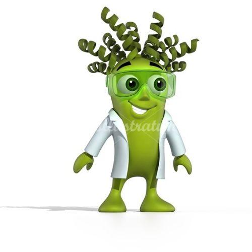 Character design green smiley alien