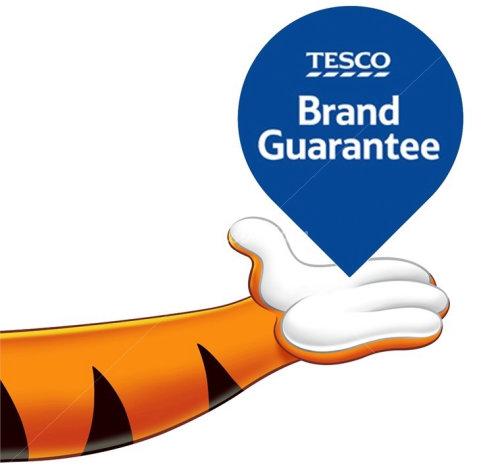 Graphic Tesco Brand Guarantee