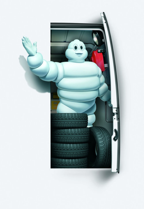 character design of Michelin tyres