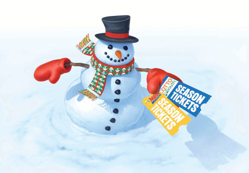 3d / cgi rendering snow man