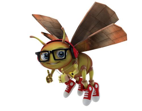 Illustration of cartoon Bee