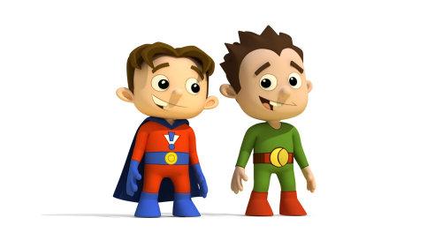 Illustration de dessin animé d'enfants de super-héros