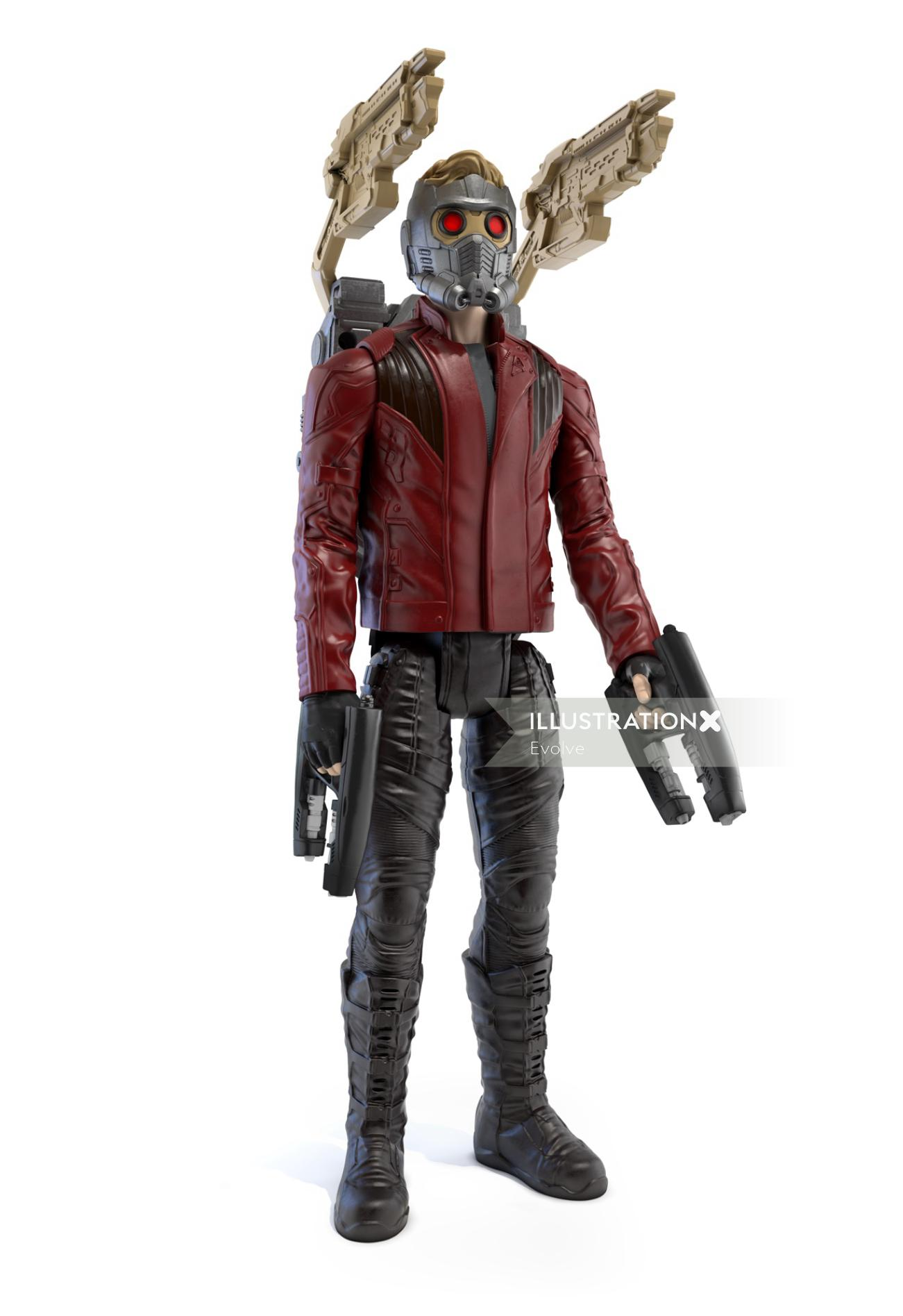 Star Lord character figure for Avengers