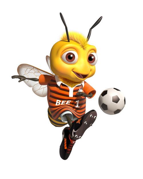 personaje gráfico de abeja