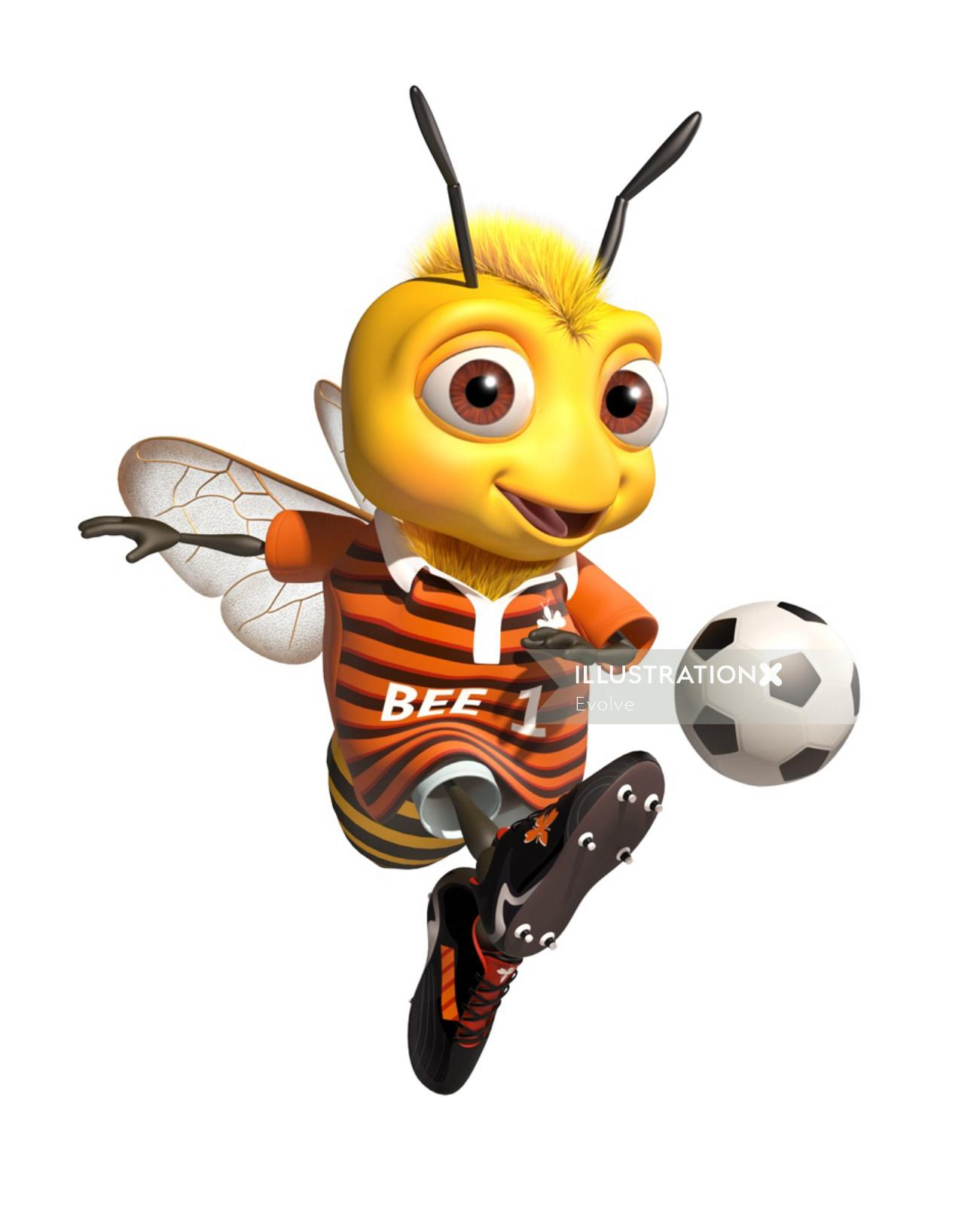 graphical Bee character