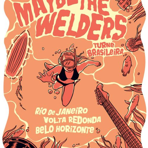 gigposter for brazil tour of maybe the welders