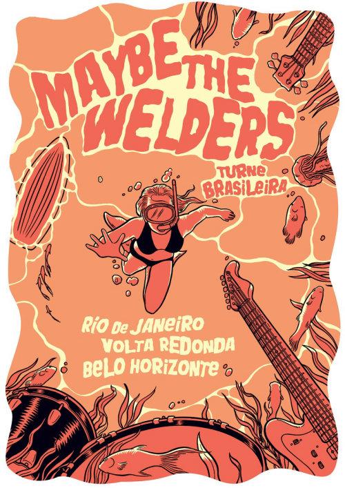 gigposter para a turnê brasil de talvez os soldadores