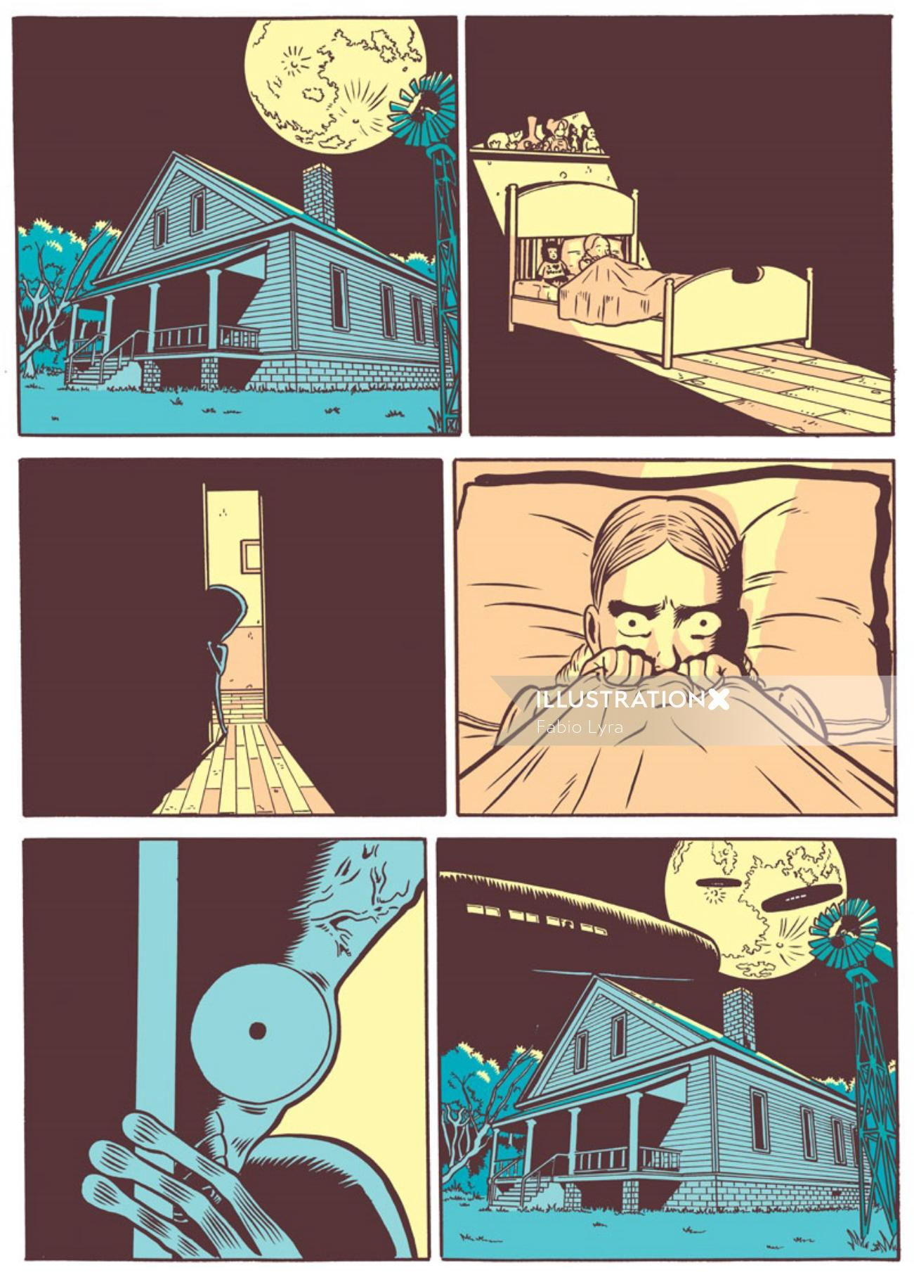 scenes from a scary house