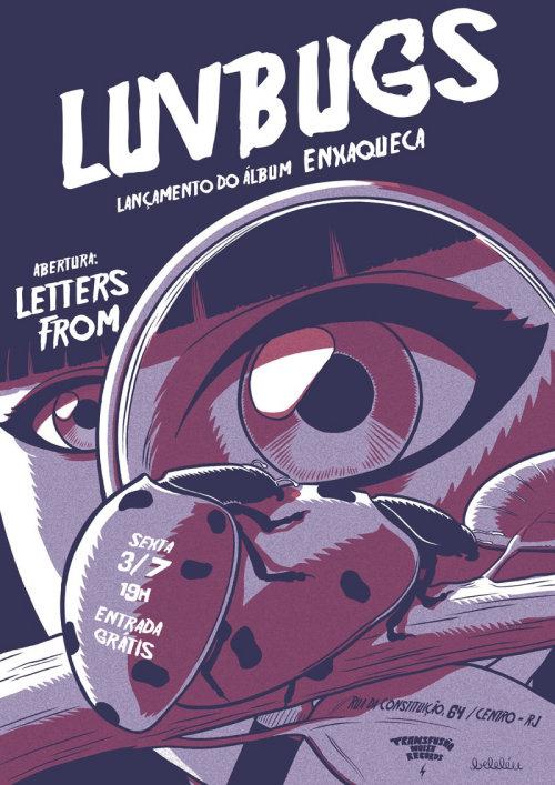 gig poster for band luvbugs