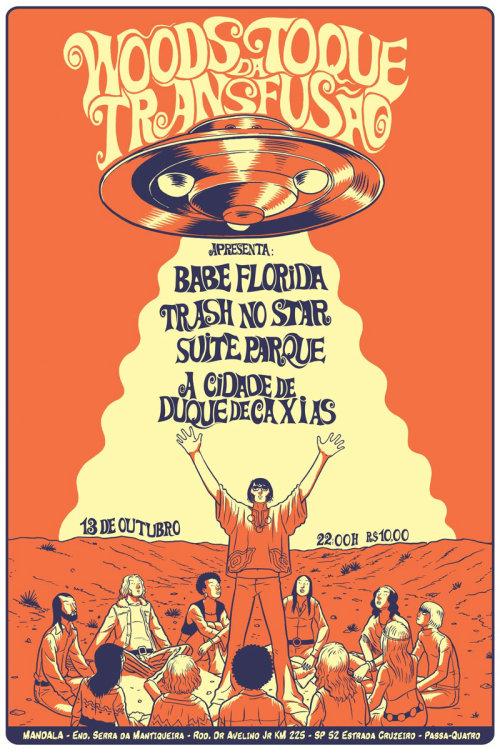 cartaz do show para o festival na gravadora transfusao noise records