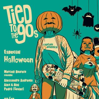 tied to the 90's party halloween cover