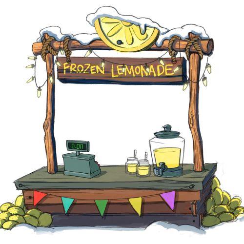 Digital painting of frozen lemonade stand