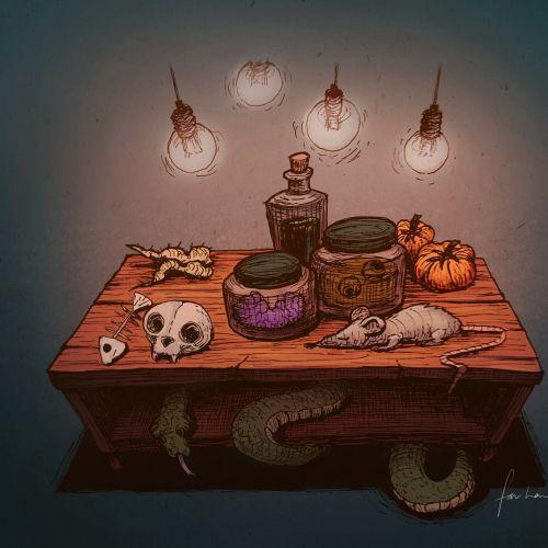 Halloween party graphic design by Farhana Hossain
