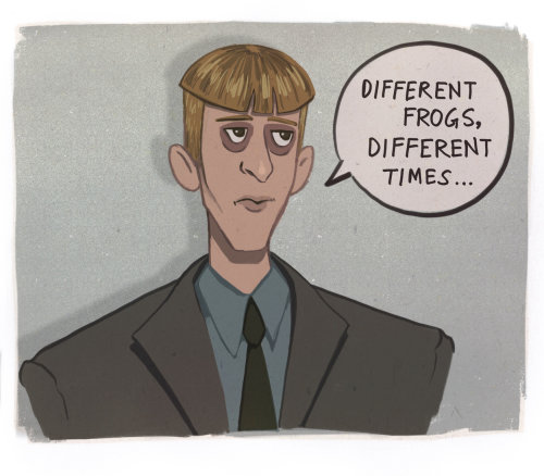 Cartoon take on Gareth from The Original Office Series (UK)