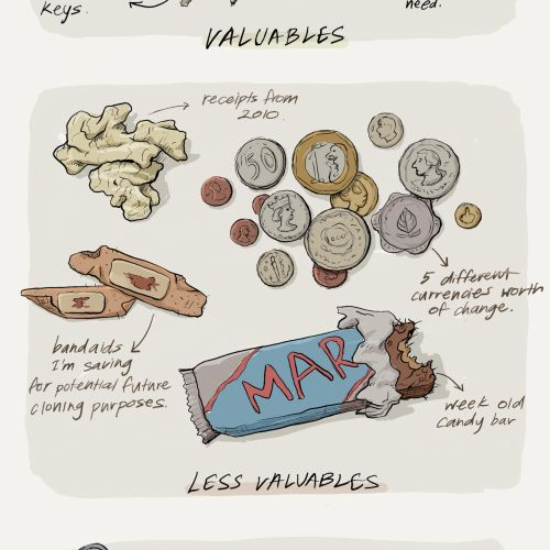 A catalogue of the objects I hoard in my bag
