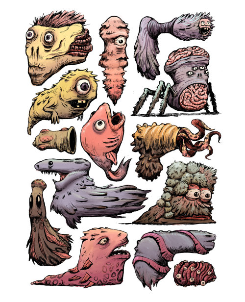 Digital character designs Monsters
