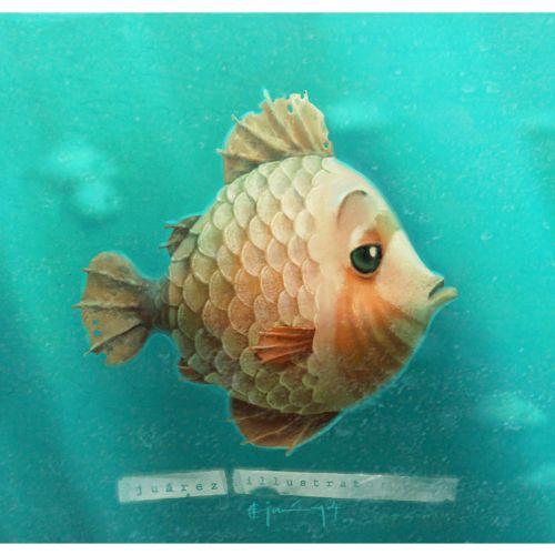 Animals sad fish