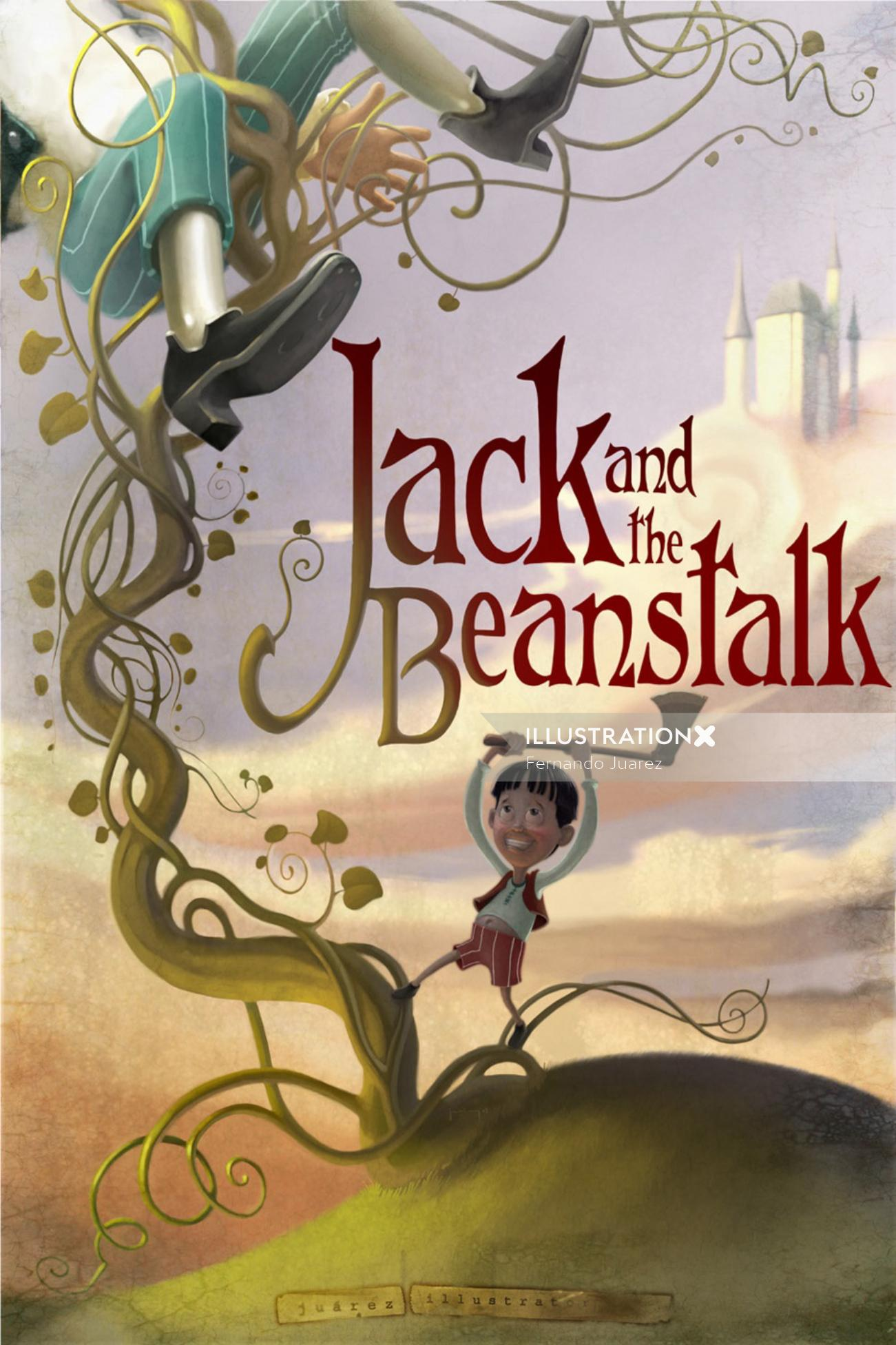 Graphic jack and the beanstalk poster