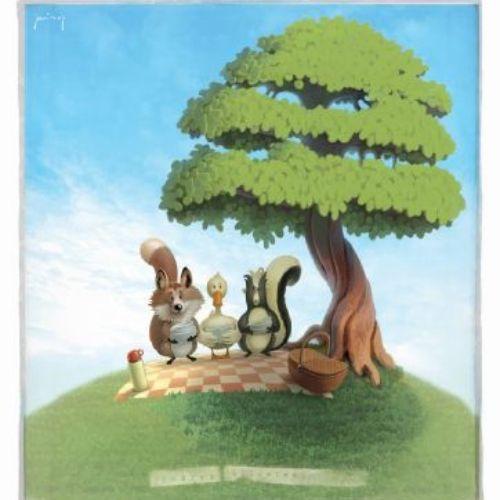 Cartoon & Human Great picnic
