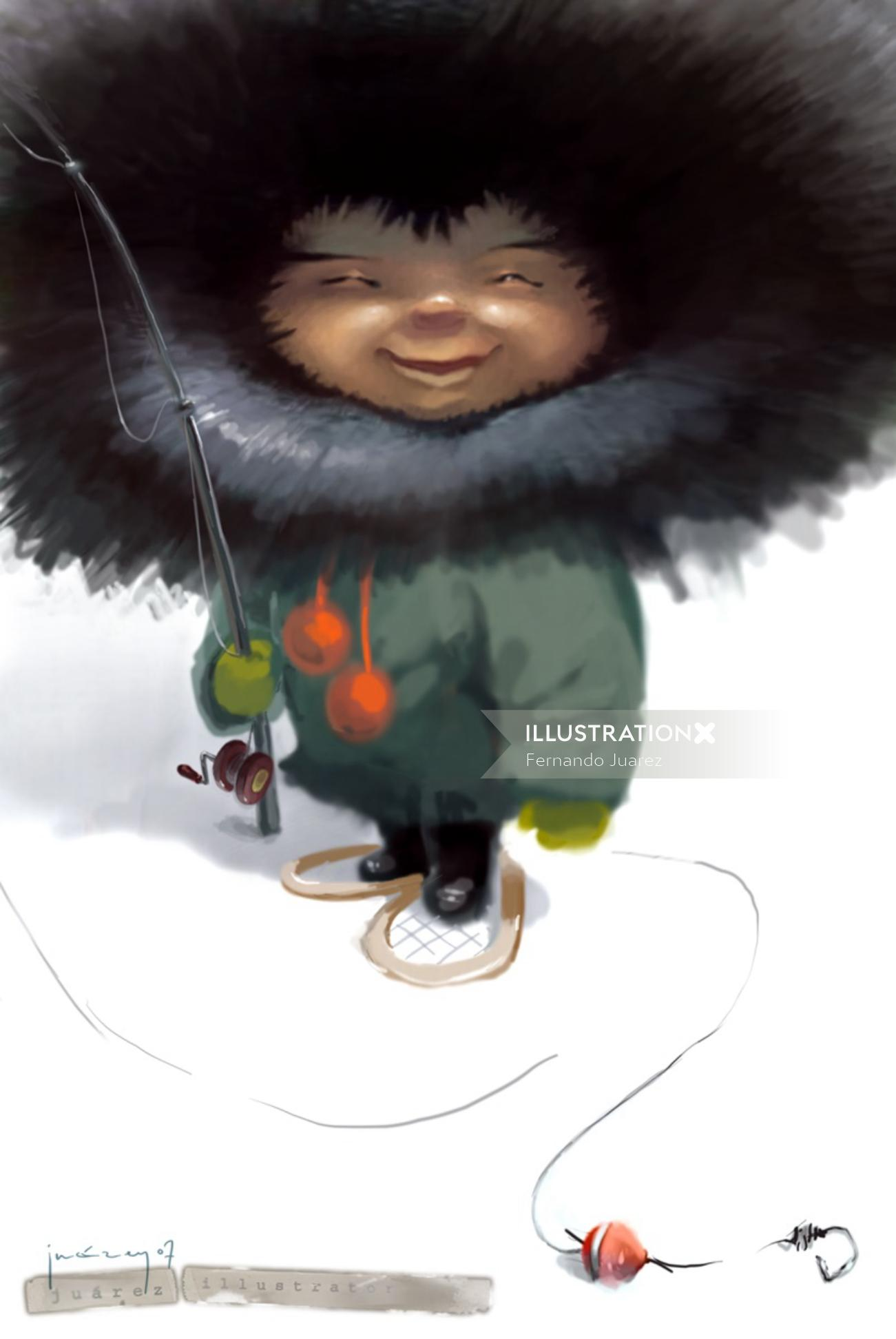 Cartoons & Humour little inuit