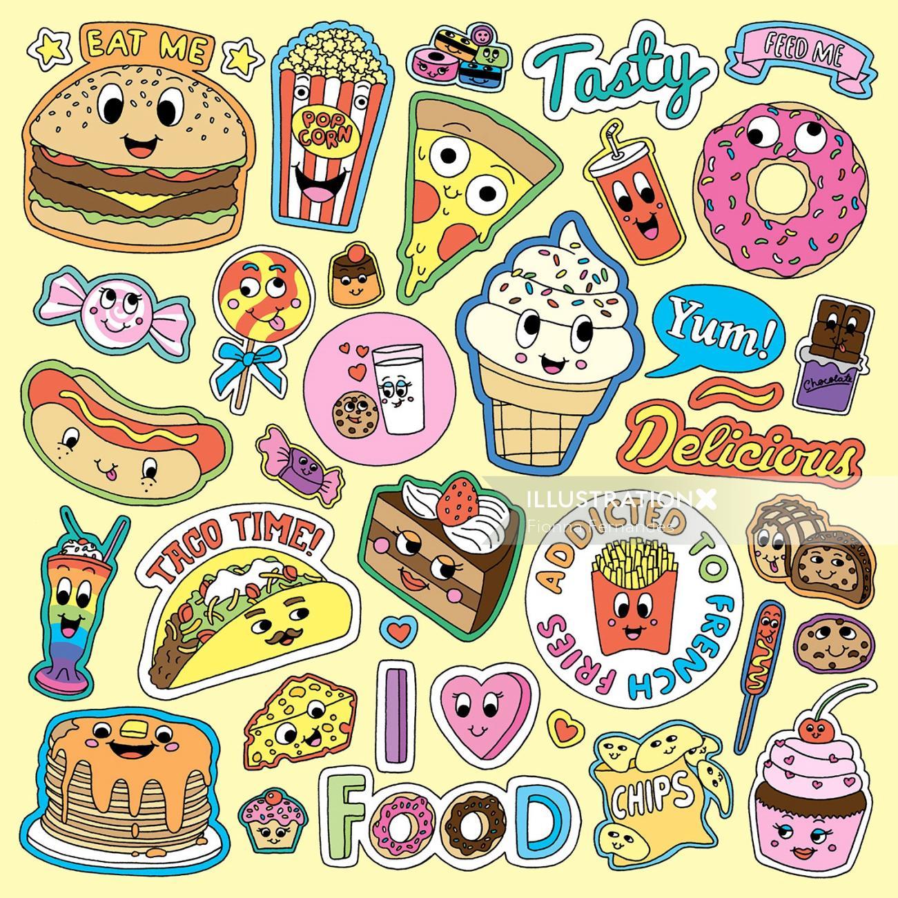 Set of Food & Drink Illustration