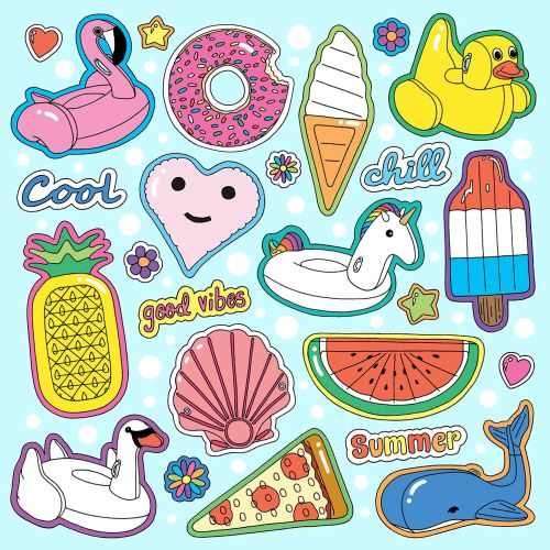 Collage Poster Pool FLoats Icon