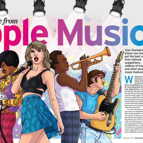 Editorial Illustration Of Apple Music Stars