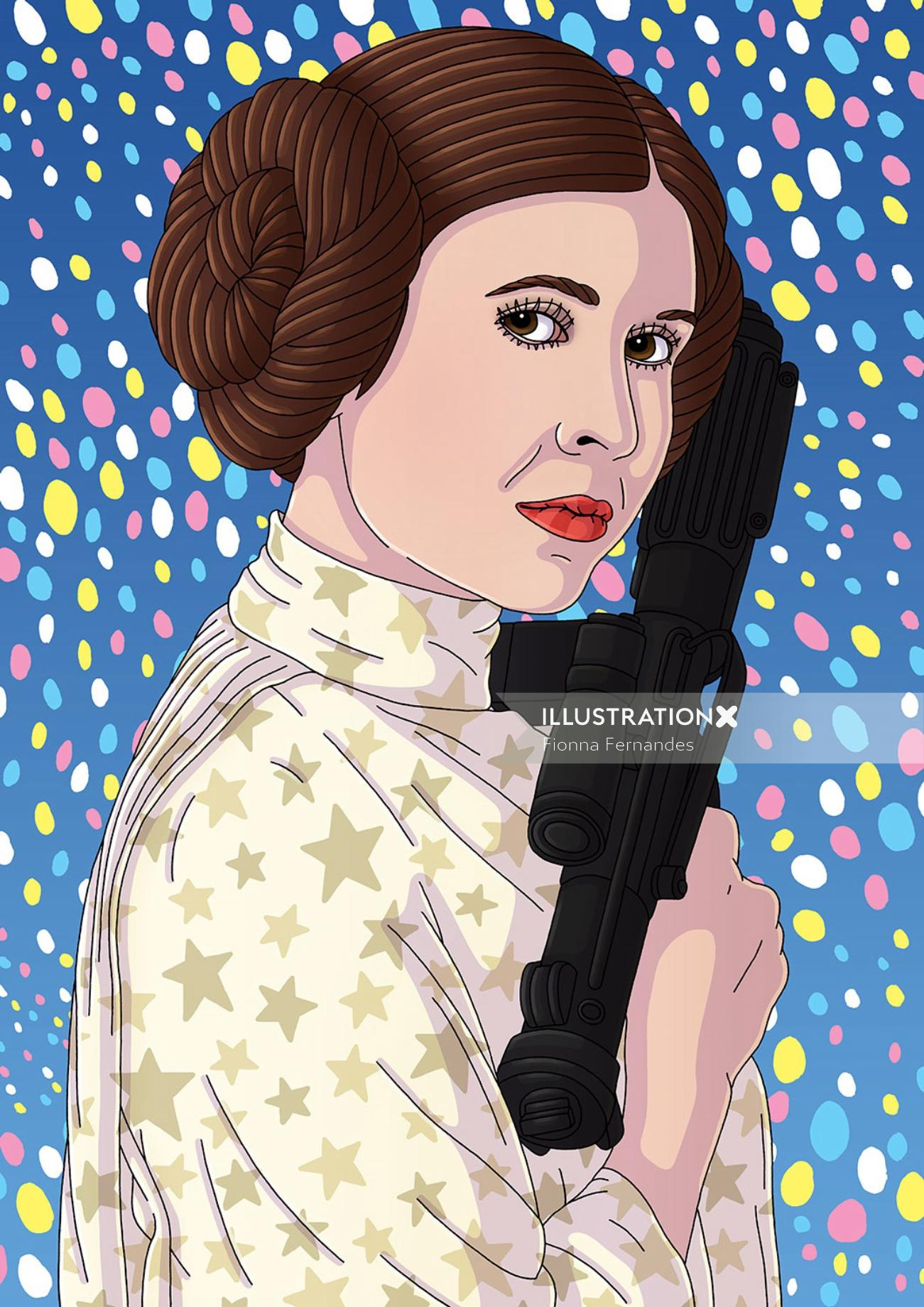 Portrait Art Of Carrie Fisher
