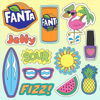 Fanta Stickers Made By Fionna Fernandes