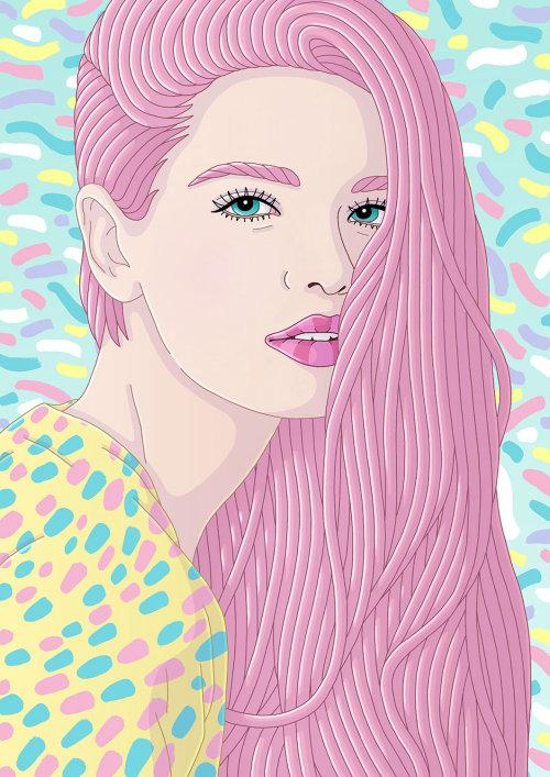 Fluttershy - Uma obra de arte de retrato feminina