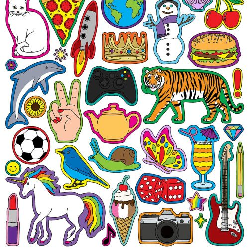 Mixed Sticker Illustration By Fionna Fernandes