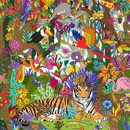 Jungle Paradise With Animals & Birds
