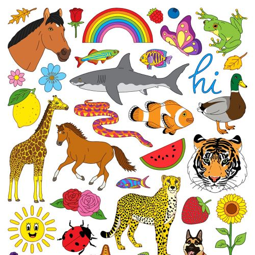 Animals and Nature Poster collage