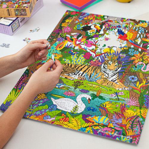 Quebra-cabeça do tigre da selva para produtos comestíveis para crianças