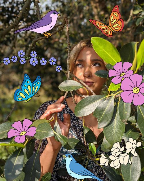 Retrato floral para pixel da equipe